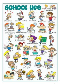 School Life Picture Dictionary - English ESL Worksheets for distance learning and physical classrooms English Vocabulary Words, Learn English Words, English Lessons, English Grammar, English Classroom, Classroom Language, English Language Learning, Teaching English, Kids English
