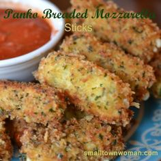 I love cheese! Who doesn't love cheese.  I think that everything should come with a side of cheese! These are easy to make and you can even freeze them for unexpected company! Serve with warm marinara or go crazy and serve with chipotle mayo. Print Yum Panko Breaded Mozzarella Sticks Ingredients8 mozzarella string cheese sticks... Read More »