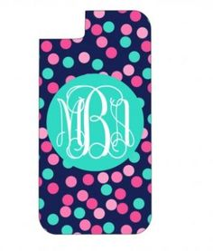 Monogrammed Confetti Dots Phone Case by embellishboutiquellc