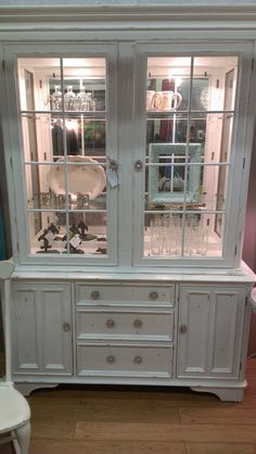 Vintage Bernhardt Lighted China Cabinet White by FarrarDesign, $1300.00