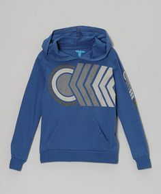 Take a look at this Sail Blue Sideswipe Organic Hoodie - Boys by Topo Ranch on #zulily today!
