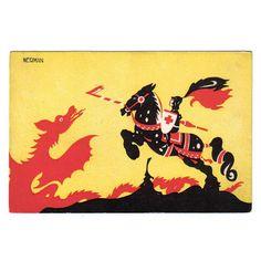 Einar Nerman postcard - George and the dragon