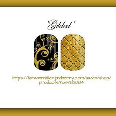 'Gilded' Copy/paste link in photo to order..or go to link in bio and use product code shown! #jamberry #nailart #dressy #holiday #black #gold #golden #quatrefoil #nailspiration #prettynails #notd #ootd #style #polished #jamberrynas