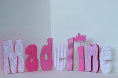 Mädchen frei stehend benutzerdefinierte Holz Buchstaben von Bubzies, $11.00
