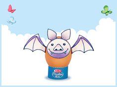 Bat egg. Download this papertoy here: http://it.piccolini.com/decorazioni-pasqua/il-pipistrello/