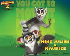 King Julien and Maurice, from Madagascar series of films.