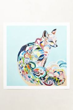 Fancy Fox Print