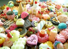 Kawaii Miniature Sweets Cabochon Mix Assorted Decoden Sweets Cabochon Set Polymer Clay Sweets Deco Cellphone Deco (30 pcs BY RANDOM). $10.95, via Etsy.