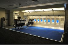 The building phase of another cabin trainer mock-up by SkyArt