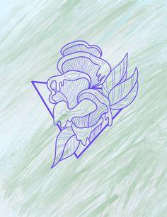 Flower Tattoo Drawings, Tattoos, The Creation, Tatuajes, Tattoo, Tattos, Tattoo Designs
