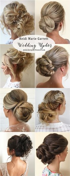 Heidi Marie Garrett Long Updos wedding hairstyles #weddings #hairstyles #weddingideas #weddinghairstyles
