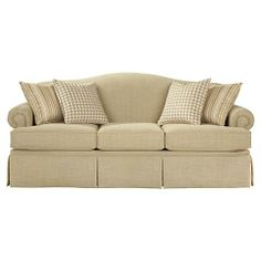 Jefferson Sofa | Bassett Furniture; Living Room sofa, but with different fabric/colors