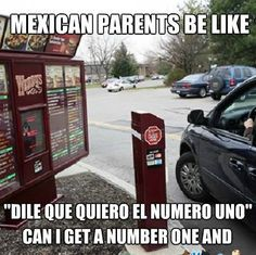 Not just Mexican parents do this… ALL Latino parents who have children born/raised here do this… We're trained to be professional translators from an easy age