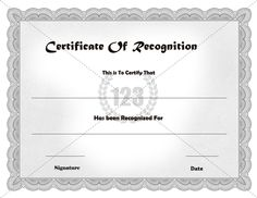 Best Recognition Certificate Templates Free Download from Here #Certificate #Template
