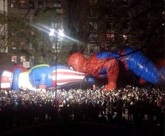 Macy's parade taking an dirty turn.   funny pictures