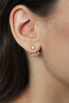 Image of Boucles d'oreilles Lily plaqué or rose / Lily earrings rose gold plated