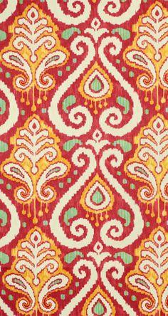 Richloom Zanzibar Tomato Fabric #red #yellow #decor