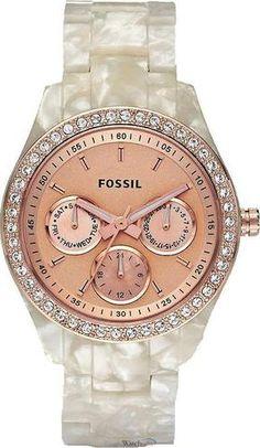 Fossil White/Rosegold Women's Watch | eBay