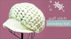 How to Crochet A Hat: Women's Peak Cap Hat - YouTube