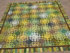 traditional north winds block made with lemongrass batiks