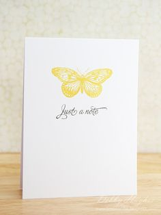 awesome simple cards - stamped image, sentiment stamped beneath.