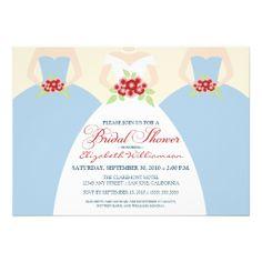 Bride & Bridesmaids Bridal Shower Invite (blue)