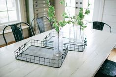 Wire Serving Tray | The Magnolia Market go on their site she has so much great stuff ti buy