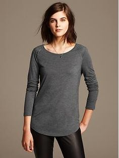 Quilted Whisper Tee. How cute are those quilted shoulders?