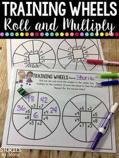 This multiplication dice game freebie is a great way to get your students practicing their multiplication facts!