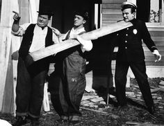 Stan Laurel, Oliver Hardy and Edgar Kennedy
