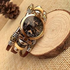 nice Fashion Women's Lady's Wrist Bracelet Leather Watch with Retro Black Dial Gift - For Sale Check more at http://shipperscentral.com/wp/product/fashion-womens-ladys-wrist-bracelet-leather-watch-with-retro-black-dial-gift-for-sale/