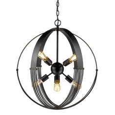 Golden Lighting's Carter 8 Light Pendant #7001-8P ABZ