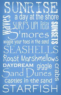 Subway Art Sign Beach Bum Typography Print by PaperBleu Beach Bum, Ocean Beach, Summer Beach, Sunny Beach, Summer Blues, Summer Picnic, Ocean Pics, Ocean Art, Summer Sale