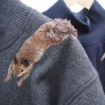 Squirrel embroidery on shirt