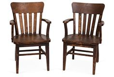 Americana Wood Chairs, Pair on OneKingsLane.com...a great piece for all rooms.  It adds a natural, comfort piece to any decor