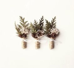 These days there are finally feeling the winter! In this season of the groom are married, you can also try coniferous and fruit-themed brooch.