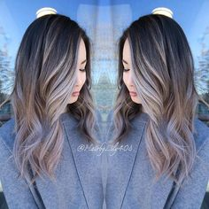 Front view of Balayage highlights. Those pieces tho. 💕 used and to create this look. Love Hair, Gorgeous Hair, Beautiful, Balayage Highlights, Ashy Balayage, Front Highlights, Bayalage, Ash Tone Hair, Bobs