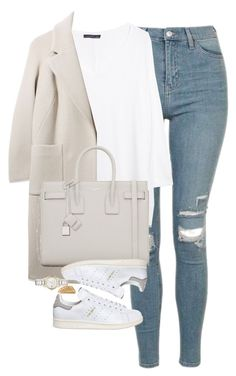 Untitled #1215 by lovetaytay on Polyvore featuring polyvore mode style MANGO Boutique Topshop adidas Yves Saint Laurent Burberry Shaun Leane fashion clothing