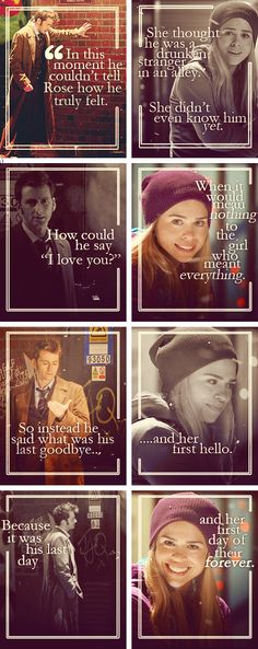 Rose Tyler and the 10th Doctor Doctor Who. Go ahead, make me cry until I rip a hole in Time and Space.