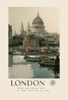 LONDON TRAVEL Poster ENGLAND Travel Poster by EncorePrintSociety