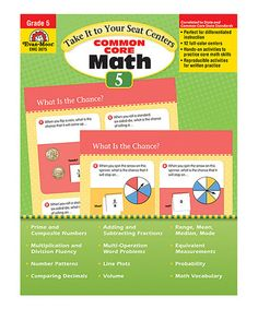 Take a look at this Common Core Math Centers Grade 5 Paperback by Evan-Moor Educational Publishers on #zulily today!