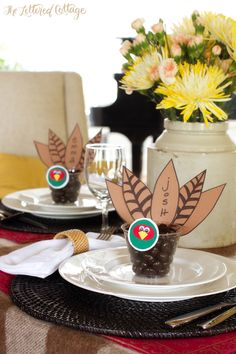 Thanksgiving Place Card and Party Favor | The Lettered Cottage