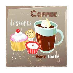 Coffee And Desserts Poster di Tanor su AllPosters.it