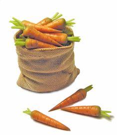 Dollhouse Miniature Sack of Carrots - Handmade 1:12 scale