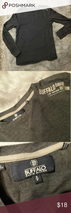 Buffalo David Bitton long sleeve tee shirt size S Super soft and comfortable grey long sleeve tee  preowned Buffalo David Bitton Tops Tees - Long Sleeve
