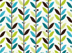 michael mullan plants pattern green aqua teal turquoise - love the colors and the pattern