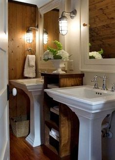 Bathroom Lights Over Medicine Cabinets picture-lights over mirrors; glass shelves above sinks; magnifying