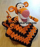 Ravelry: Tiger Lovey Blankie pattern by Knotty Hooker Designs