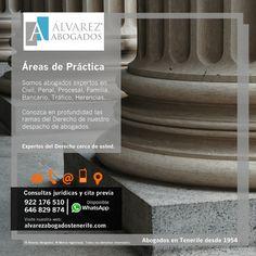 Alvarez Abogados Tenerife, conozca las áreas de práctica de nuestros abogados especialistas en Tenerife. https://alvarezabogadostenerife.com/?p=5432  #Derecho #Abogados #AlvarezAbogados #Tenerife #SomosAbogados #Justicia #TenerifeSur