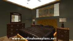 Comfortable master bedroom - small house plan for downsizing (SG-981-AMS).